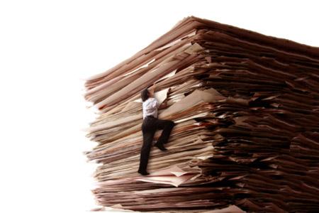 Climbing-mountain-of-paper